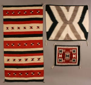 Lot 356: Three Native American Weavings