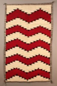 Lot 357: Navajo Rug,  Zigzag Pattern