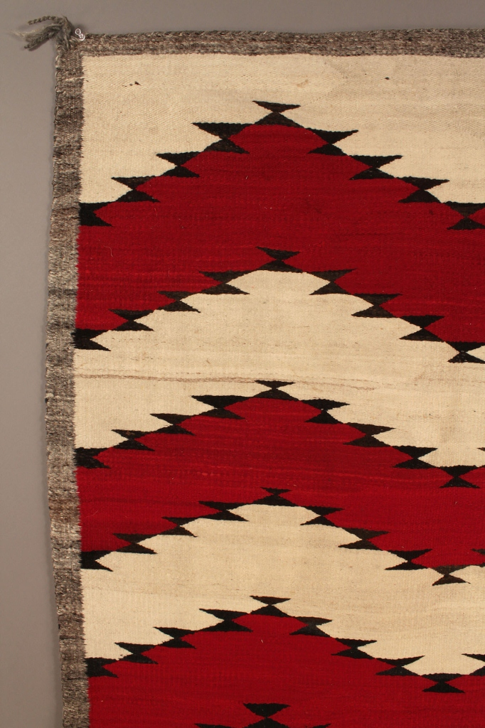 Lot 357: Navajo Rug,  Zigzag Pattern