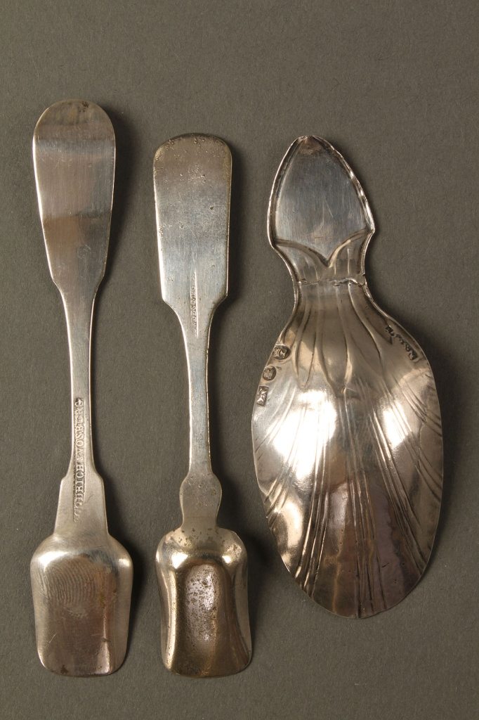 Lot 359: 33 assorted Coin Silver & Sterling Spoons