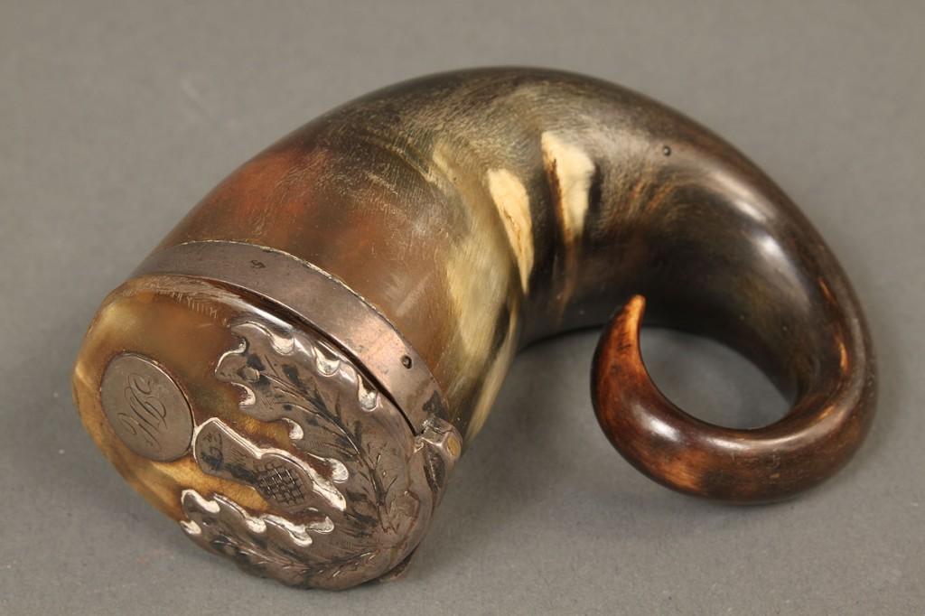 Lot 363: Scottish snuff mull & silver letter opener