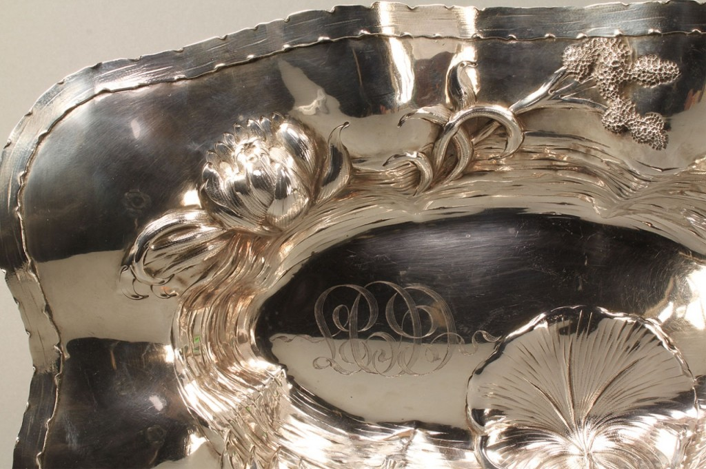 Lot 365: Sterling Silver Lily Pad Bowl by Barbour