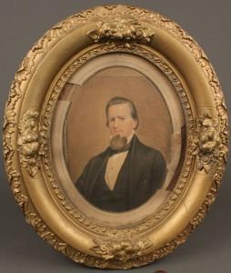 Lot 36: Watercolor portrait of John Sevier, circa 1860
