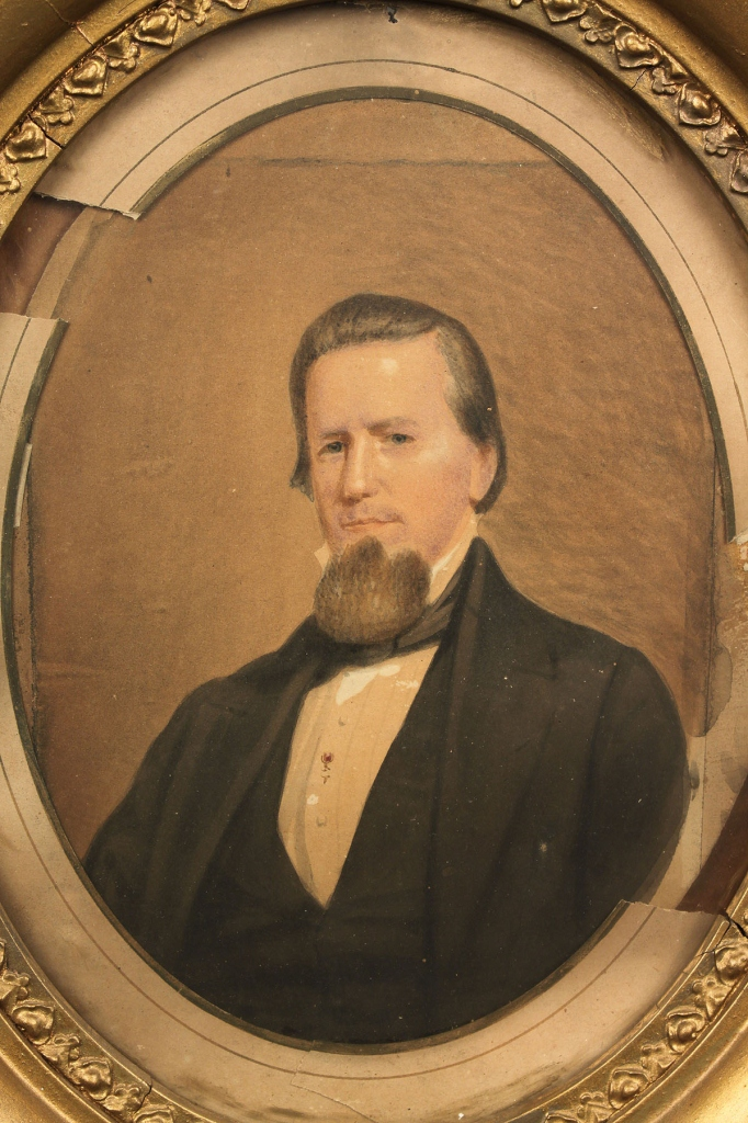 Lot 36: Watercolor portrait of John Sevier, circa 1860