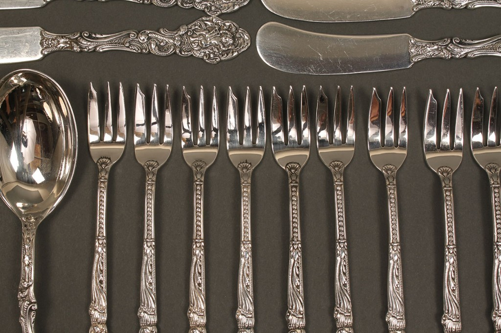 Lot 371: Gorham Versailles Sterling Flatware, 23 pcs