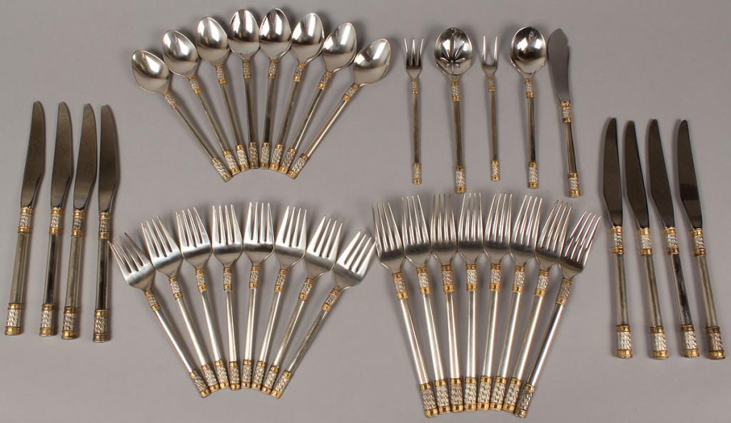 Lot 374: Wallace Sterling  Flatware, Aegean Weave, 37 pcs.