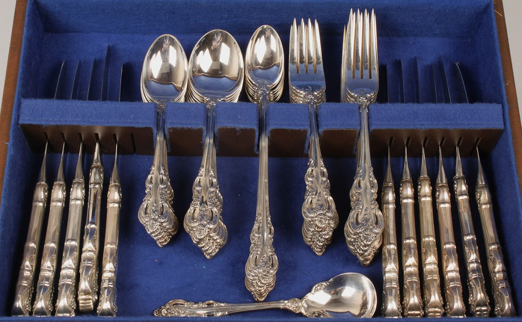 Lot 375 Towle Sterling Flatware El Grande 55 Pcs