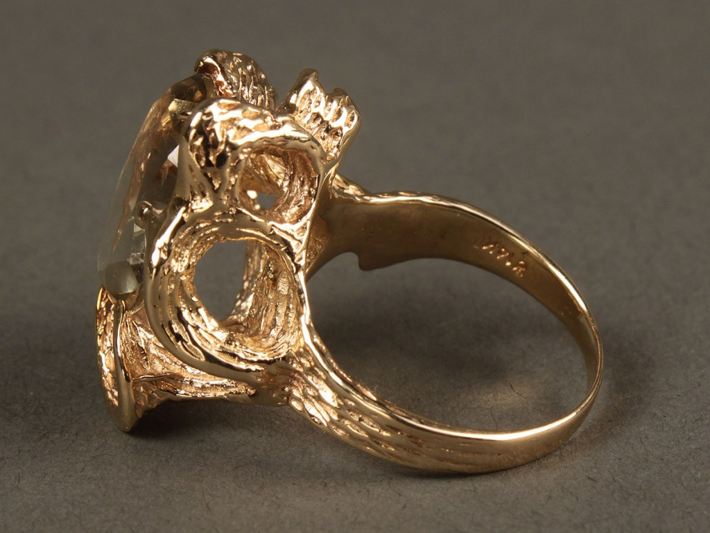 Lot 385: 14K  Variegated Quartz Ring