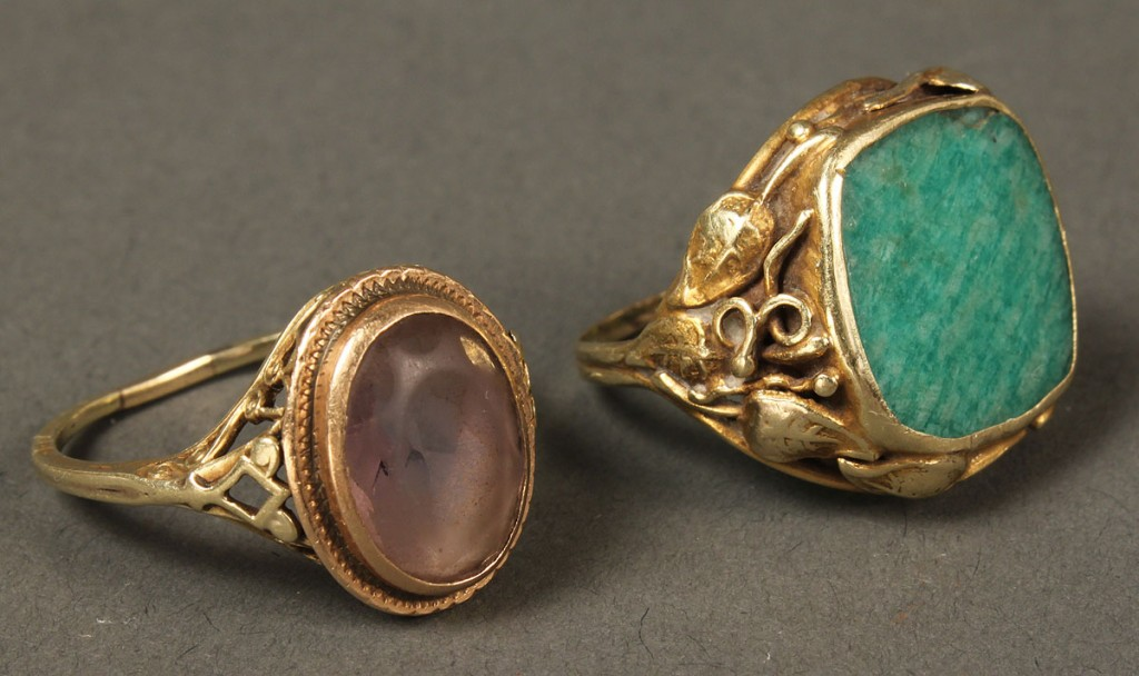 Lot 387: Two 14K Victorian Rings