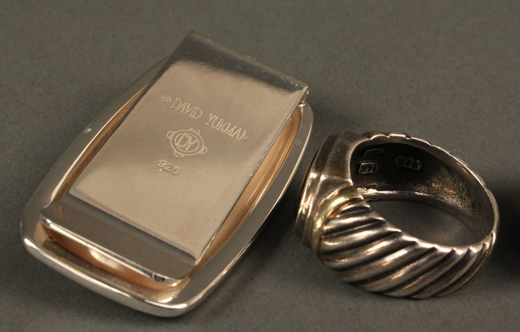 Lot 389: Three men's jewelry items: Tiffany & Yurman