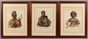 Lot 38: 3 McKenney & Hall Colored Lithographs
