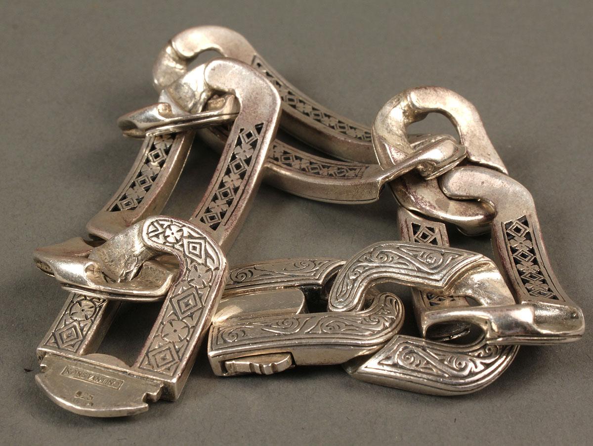 Lot 391 Men S Sterling Konstantino Link Bracelet