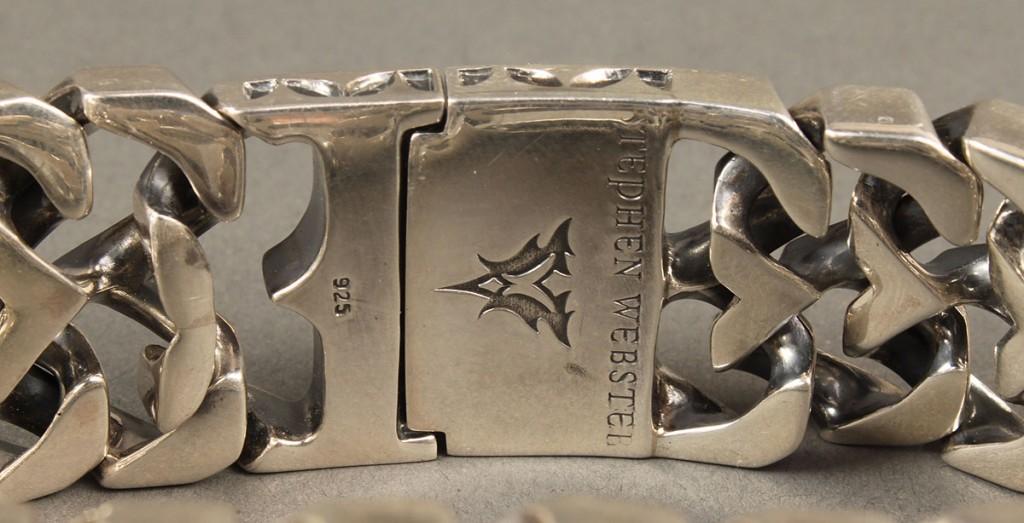 Lot 392: Men's Stephen Webster Sterling Logo Link Bracelet