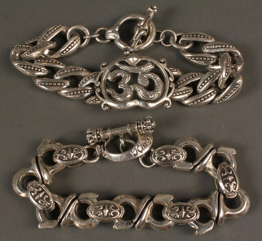 Lot 393: 2 Men's Bracelets: King Baby & Royal Underground