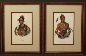 Lot 39: Pair of Native American Colored Lithographs
