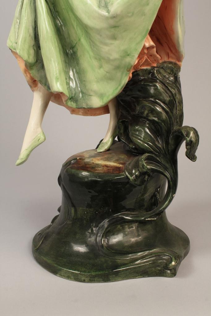 Lot 407: German Art Nouveau Porcelain Figure