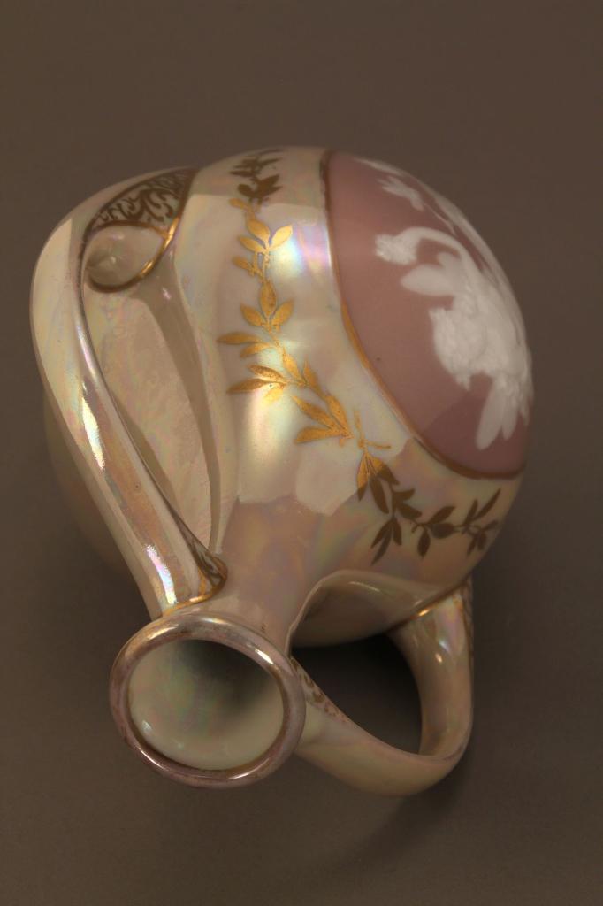 Lot 408: Pate sur Pate Porcelain Portrait Vase