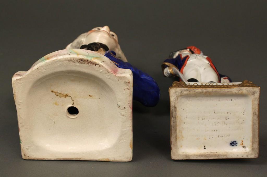 Lot 409: Porcelain Figures, Washington & Lafayette