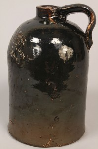 Lot 411: Tennessee Stoneware Pottery Saloon Jug