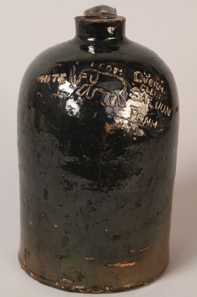 Lot 411: Tennessee Stoneware Pottery Saloon Jug