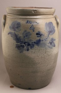 Lot 416: Southwest VA Colbalt Decorated Pottery, McGee