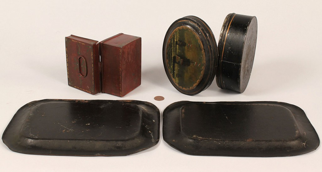 Lot 418: Grouping of Toleware Items, 4 pieces