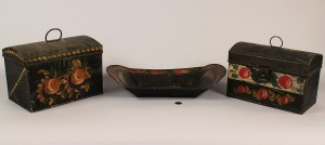 Lot 419: Grouping of Toleware Items, 3 pieces