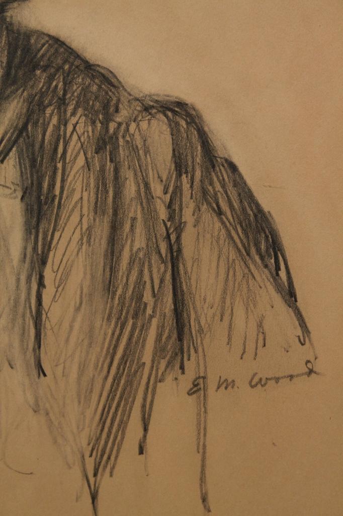 Lot 41: Ella M. Wood drawing, African American Mammy