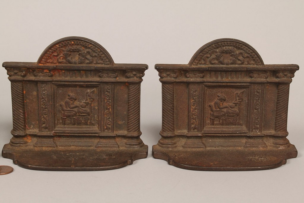 Lot 420: Grouping of Cast Iron Accessories, 9 pieces