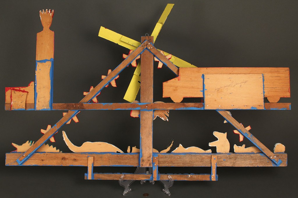 Lot 426: James Harold Jennings folk sculpture composition