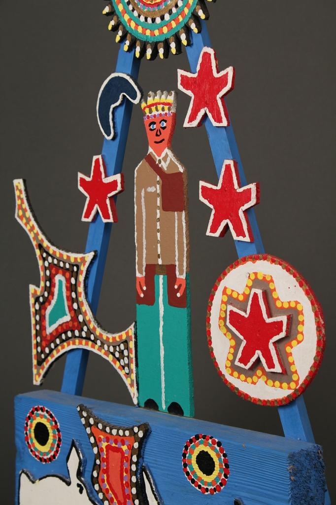 Lot 427: James Harold Jennings sculpture, man under stars