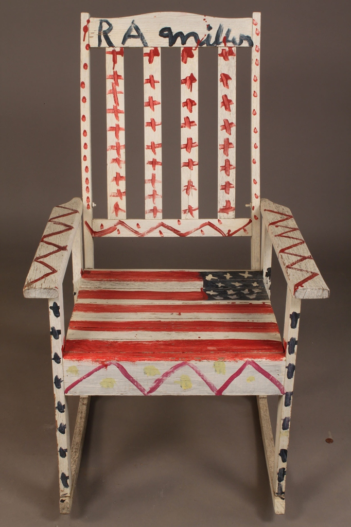 Lot 431: R.A. Miller folk art chair