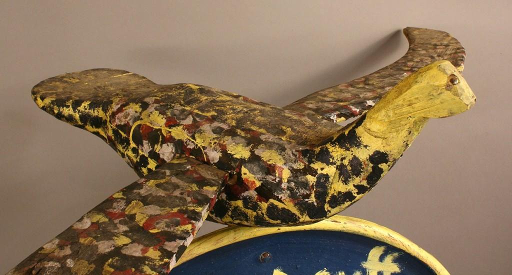 Lot 433: Folk art bird sculpture, tribute to Roy Acuff /Bil