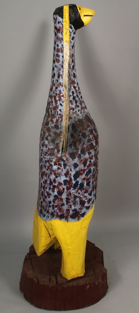 """Lot 434: Large wooden """"Big Bird"""" Sculpture by Homer Green"""
