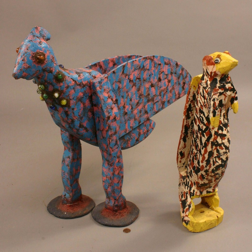 Lot 436: Squirrel and bird attributed to Homer Green