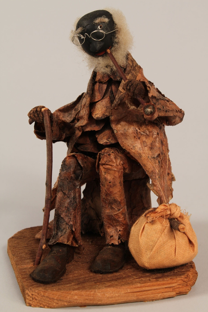 Lot 43: North Carolina carved folk art figure of black man