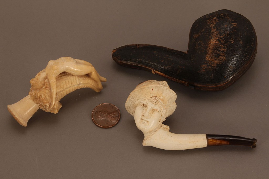 Lot 442: Two figural Meerschaum Pipes