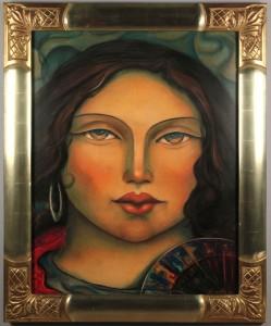 Lot 447: Miguel Martinez, Portrait of a Woman