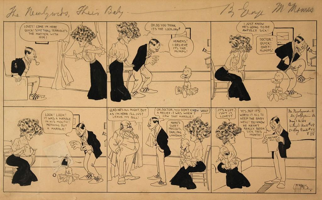 Lot 449: George McManus, 6 Block Comic Strip