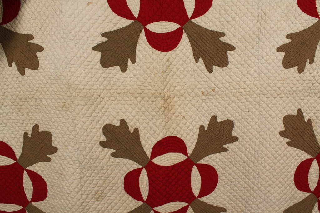Lot 44: East Tennessee Whig's Defeat pattern quilt