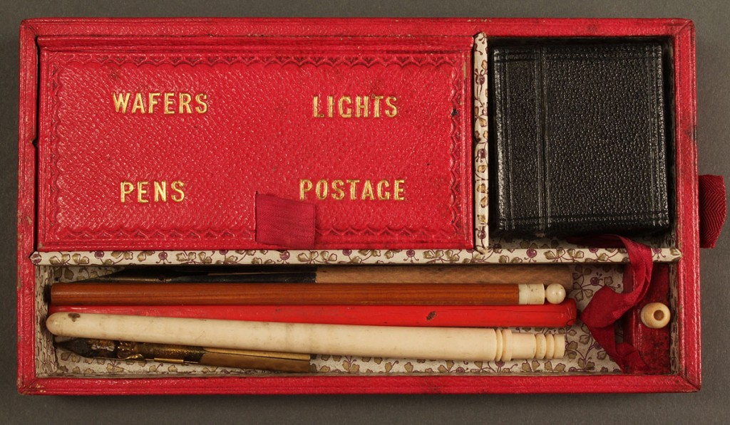 Lot 451: Victorian traveling writing box set w/ contents