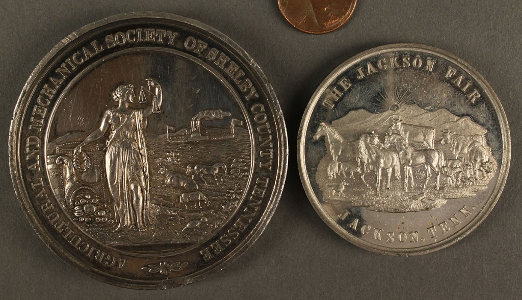 Lot 455: Two Tennessee Agricultural Medals