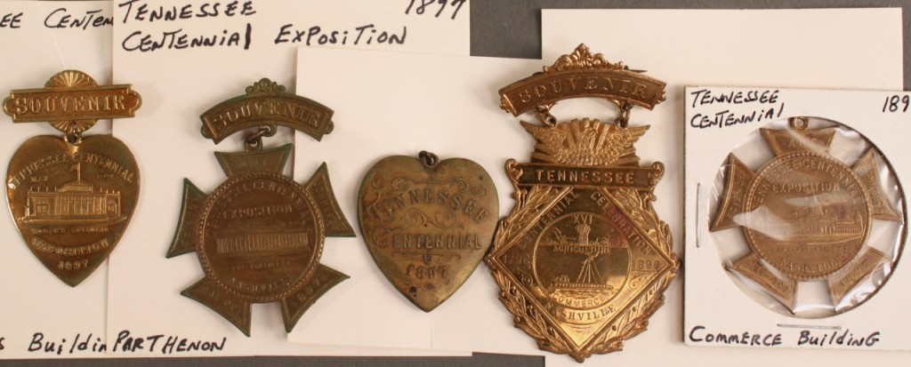 Lot 457: 5 TN Centennial commemorative badges & charms