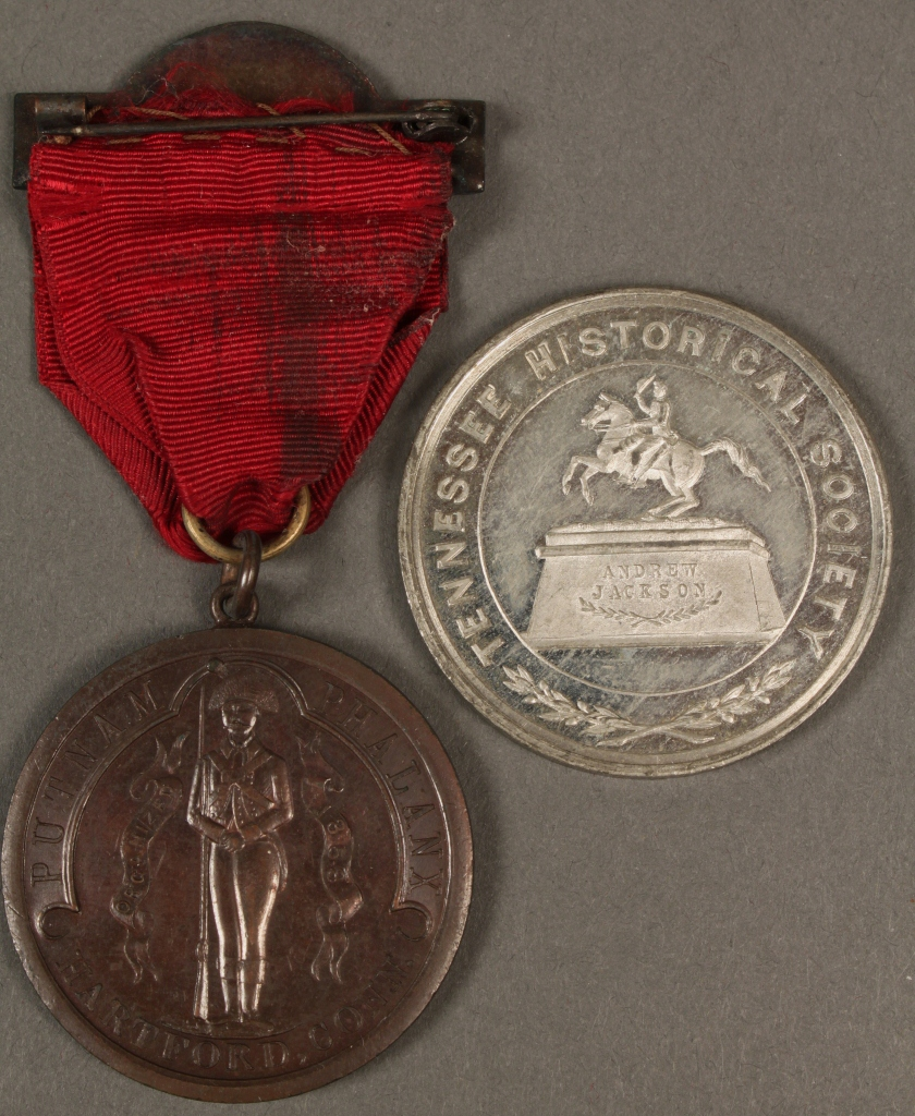 Lot 458: Lot of 2 TN Centennial Medals, Putnam & Jackson