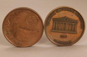 Lot 460: 2 TN Centennial Award Medals, Nashville Pottery