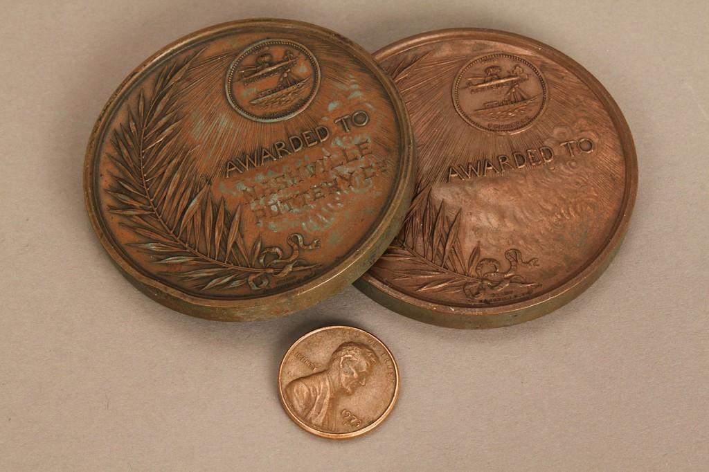Lot 460: 2 TN Centennial Award Medals, Nashville Pottery