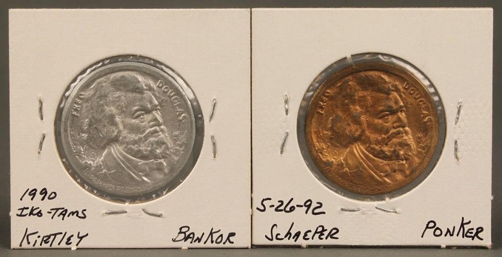 Lot 461: 2 TN Centennial Exposition Coins, Frederick Dougla