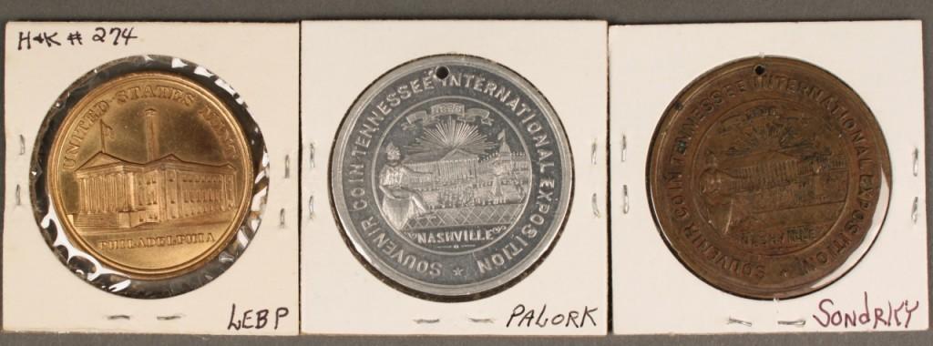 Lot 462: 3 Tennessee Centennial Exposition coins, Jackson