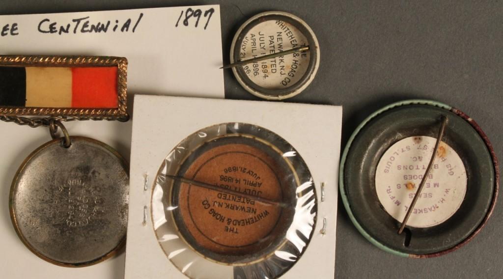 Lot 463: 4 Tennessee Centennial Commemorative Pins