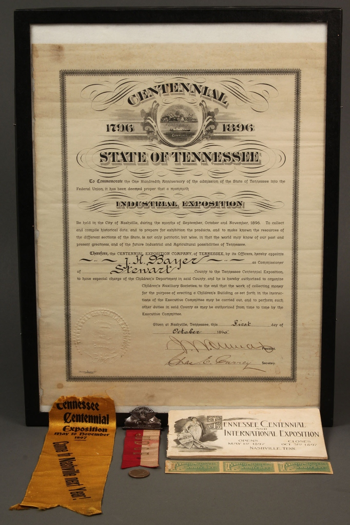 Lot 465: 5 items of Tennessee Centennial memorabilia